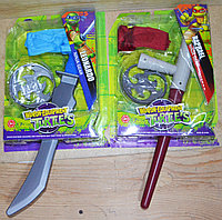 RZ1594/1595 Черепашки ниндзя оружия с маской Weapon Turtles 30*23см, фото 1