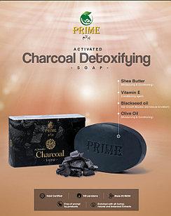 PRIME ACTIVATED CHARCOAL DETOXIFYING SOAP Детоксифирубщее Мыло с активированным углем