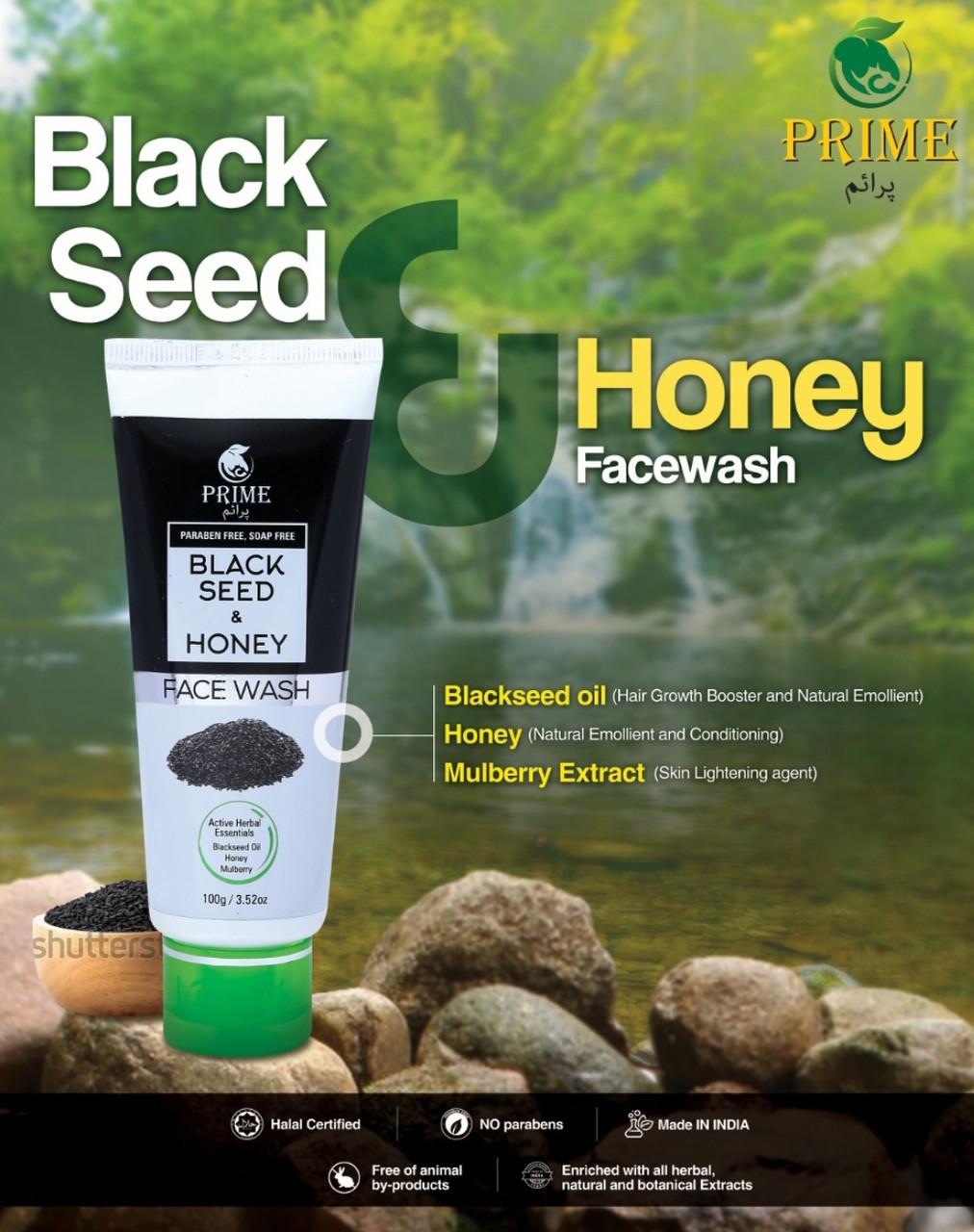 PRIME BLACKSEED AND HONEY FACE WASH средство для умывания лица с медом