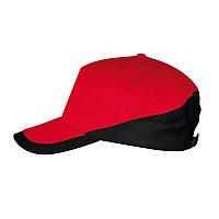 Бейсболка BOOSTER 260, 5 клиньев, металлическая застежка, Красный, -, 700595.937