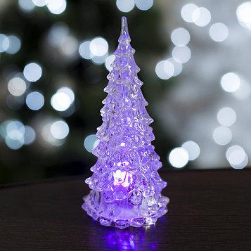 "Игрушка световая ""Ёлочка"" (батарейки в комплекте) 12 см, 1 LED, RGB, прозрачная"