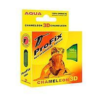 Леска плетёная Aqua ProFix Chameleon 3D Jungle, d=0,10 мм, 100 м, нагрузка 6,5 кг