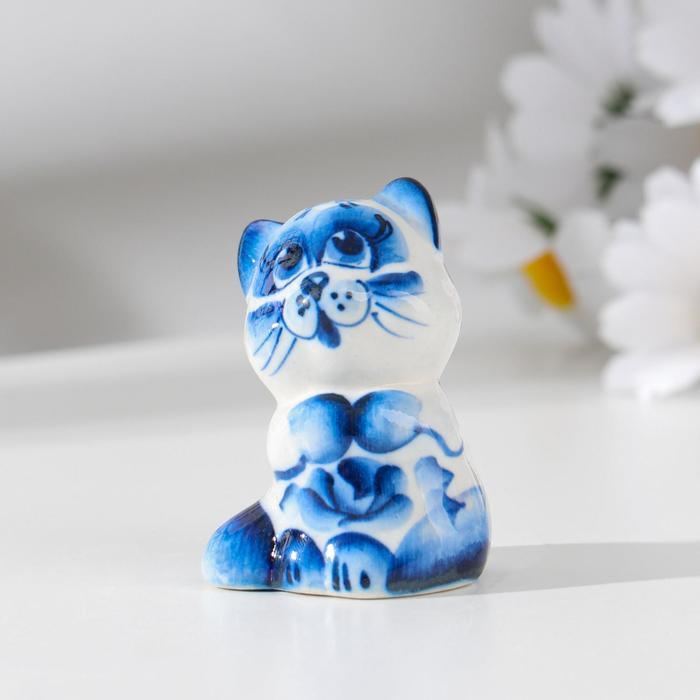 """Сувенир керамика """"Кот """"Сиам"""" 5,5 х 4 см"""