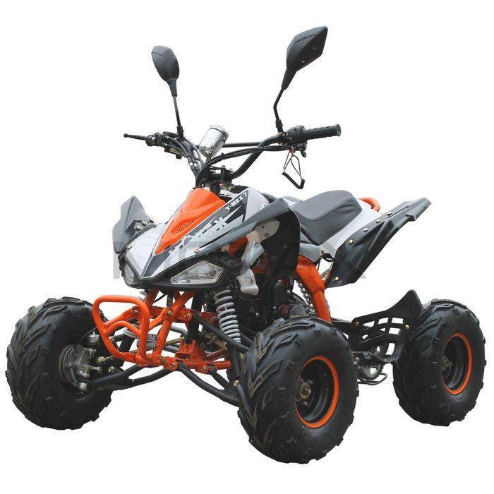 Квадроцикл бензиновый MOTAX ATV T-Rex Super LUX 125 cc, бело-оранжевый