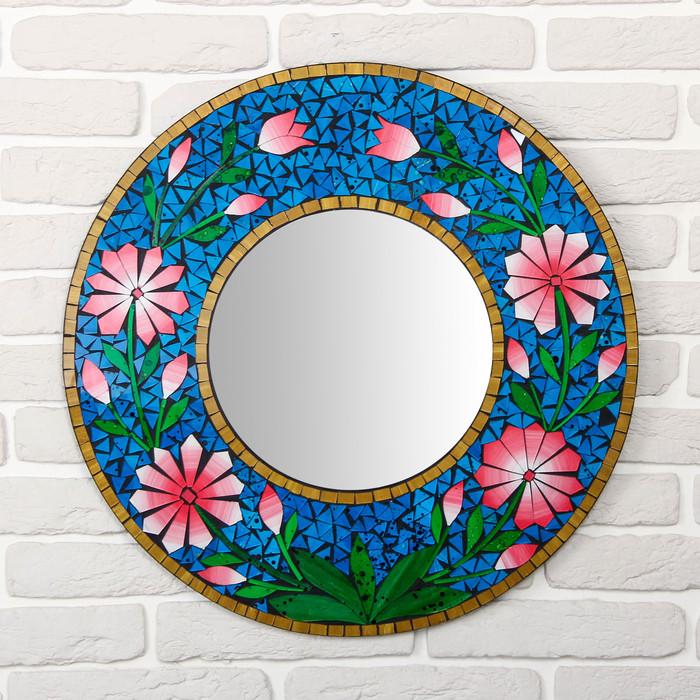 """Панно зеркальное """"Цветы"""" 60х1х60 см"""