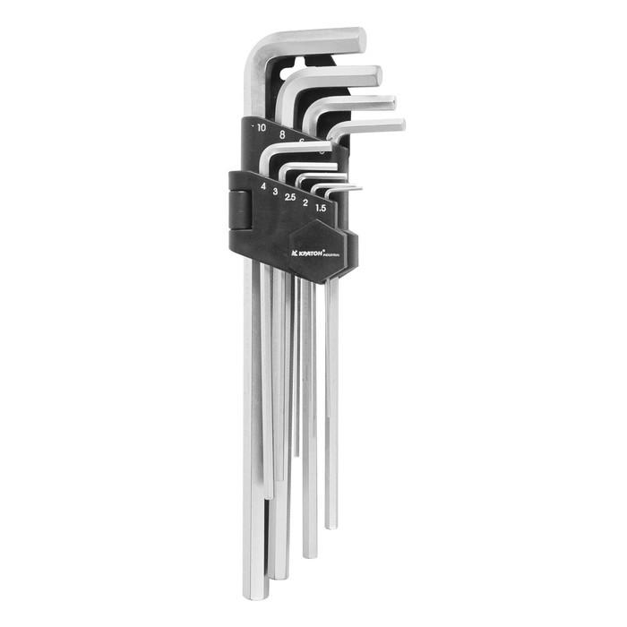 "Набор ключей шестигранных ""Кратон"" 2 19 02 003, 1.5-10 мм, 9 шт"