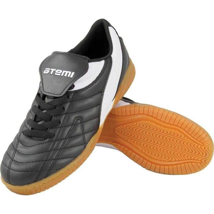 Футбольные бутсы для зала EVA, цвет чёрно-белый, синтетическая кожа, размер 45
