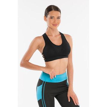 Топ-бра женский спортивный, цвет чёрный, размер 48-50 (L)