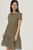 Женское летнее хлопковое зеленое платье MALKOVICH 99217 6803 42р.