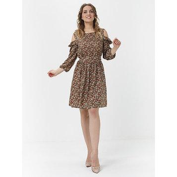 Платье женское, размер 42-44, цвет светло-коричневый