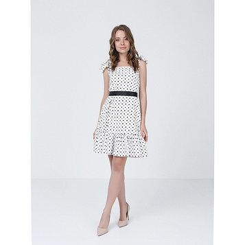 Платье женское, размер 52, цвет молочный, оливковый