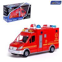 Машина «Пожарная служба», работает от батареек, световые и звуковые эффекты