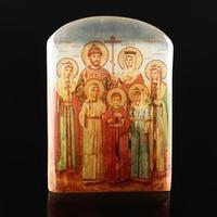 Икона с подставкой 'Царская семья Романовых', селенит