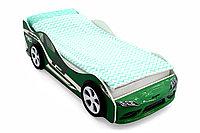 """Кровать машина """"Супра"""" зелёная"""