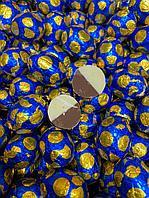 Яйцо шоколадное белый молочный шоколад СИНИЕ золотые 1кг