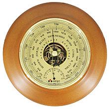 Барометр Утес БТК-СН-18 шлифованное золото с термометром (корпус-дерево, диам.210/130мм, откр.механизм)