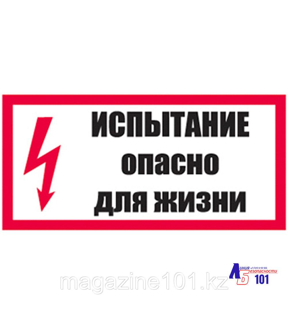 """Знак """"Испытание Опасно для жизни"""" ЭЛ-02"""