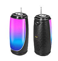 Колонка беспроводная Bluetooth портативная с LED-светомузыкой MF-206 черная