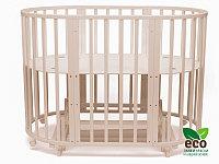 Овальная кровать МАЯТНИК Tomix MALTA 8 в 1, слоновая кость
