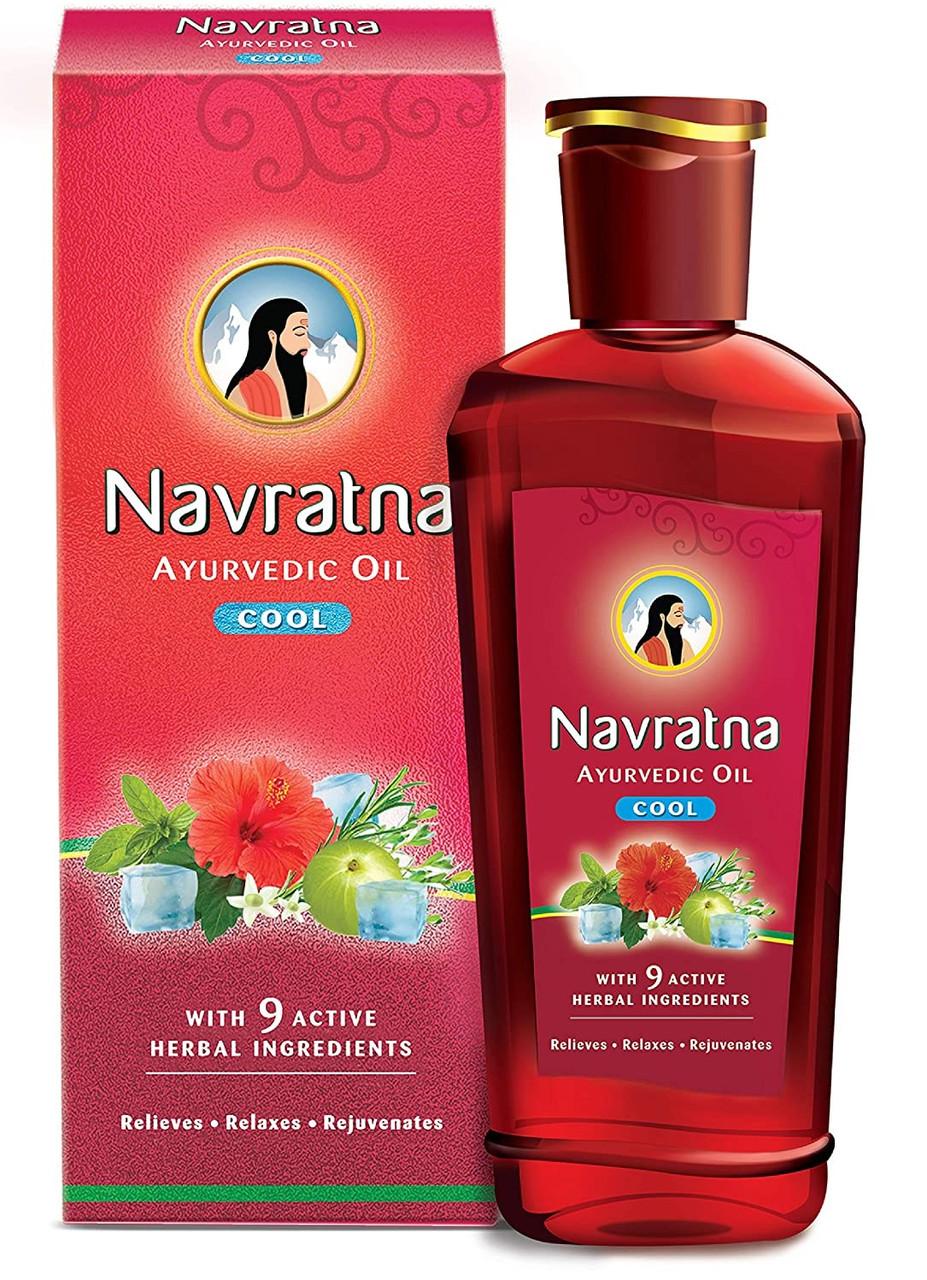"""Аюрведическое масло для волос и массажа """"Навратна"""" COOL 100 мл (Navratna oil)"""