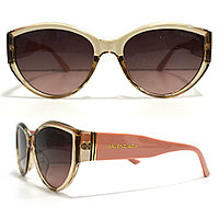 Солнцезащитные очки с коричневыми стеклами с широкой розовой дужкой Balenciaga 2125