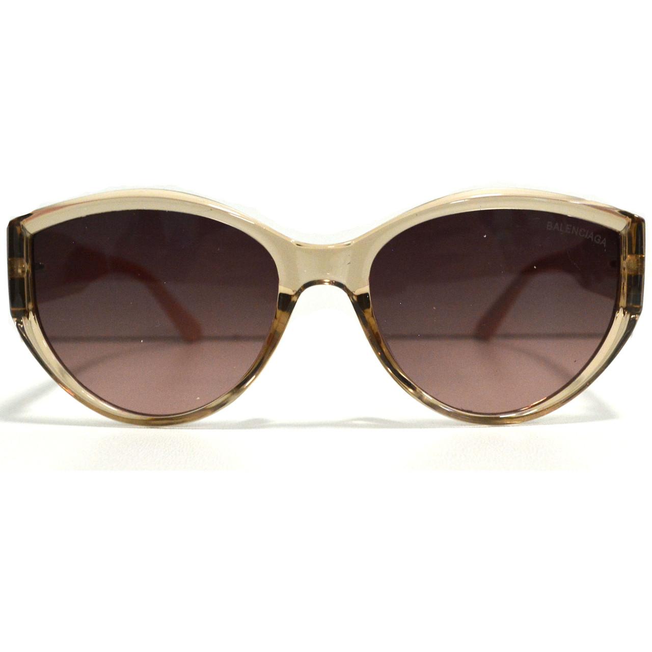 Солнцезащитные очки с коричневыми стеклами с широкой розовой дужкой Balenciaga 2125 - фото 4