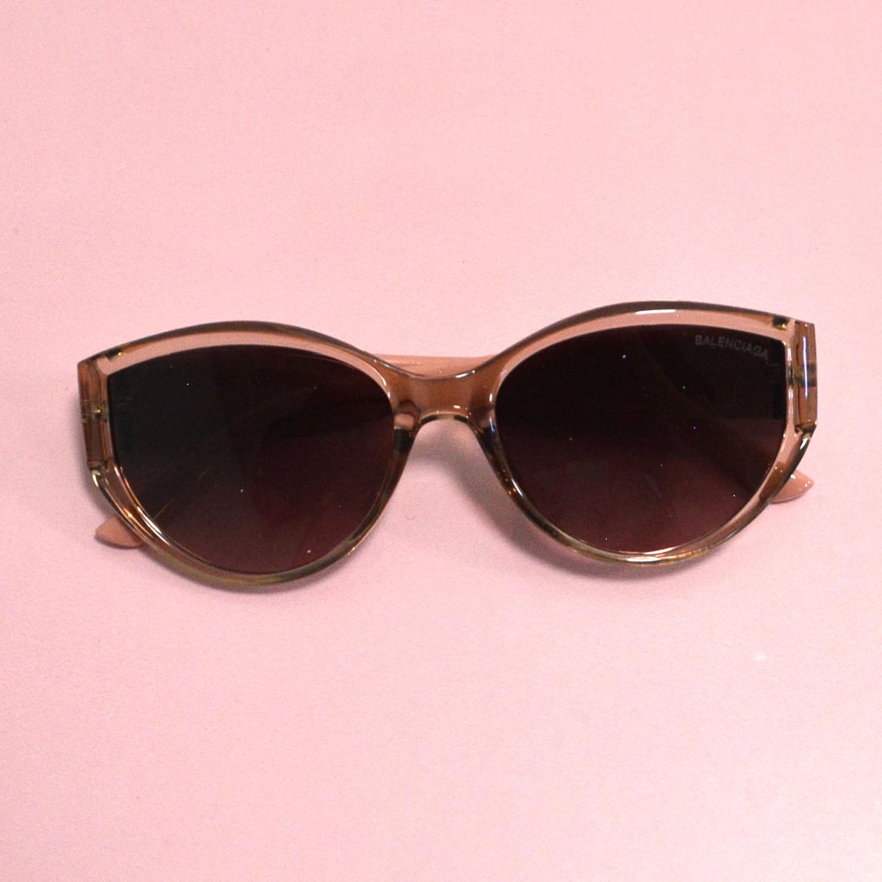 Солнцезащитные очки с коричневыми стеклами с широкой розовой дужкой Balenciaga 2125 - фото 7