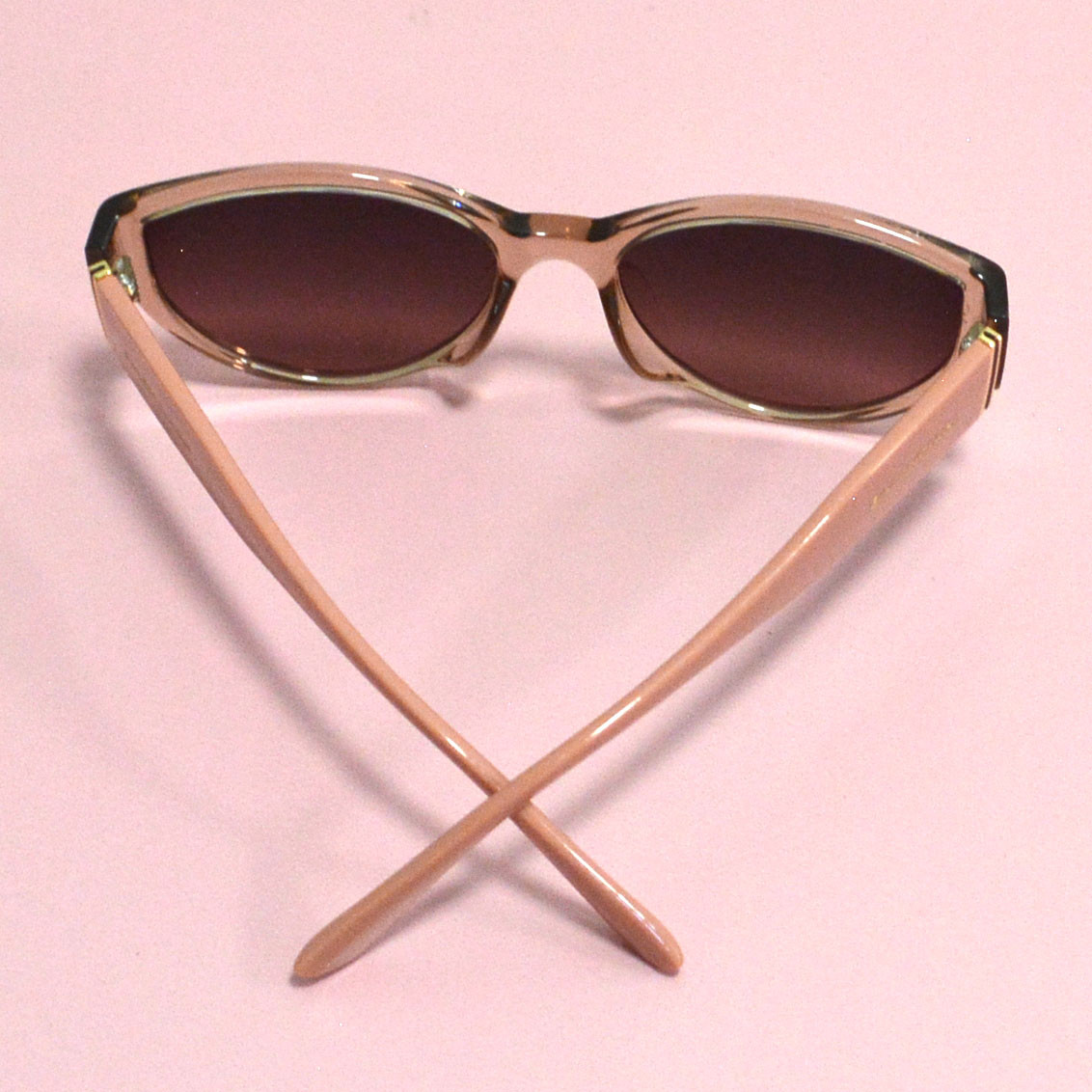 Солнцезащитные очки с коричневыми стеклами с широкой розовой дужкой Balenciaga 2125 - фото 10