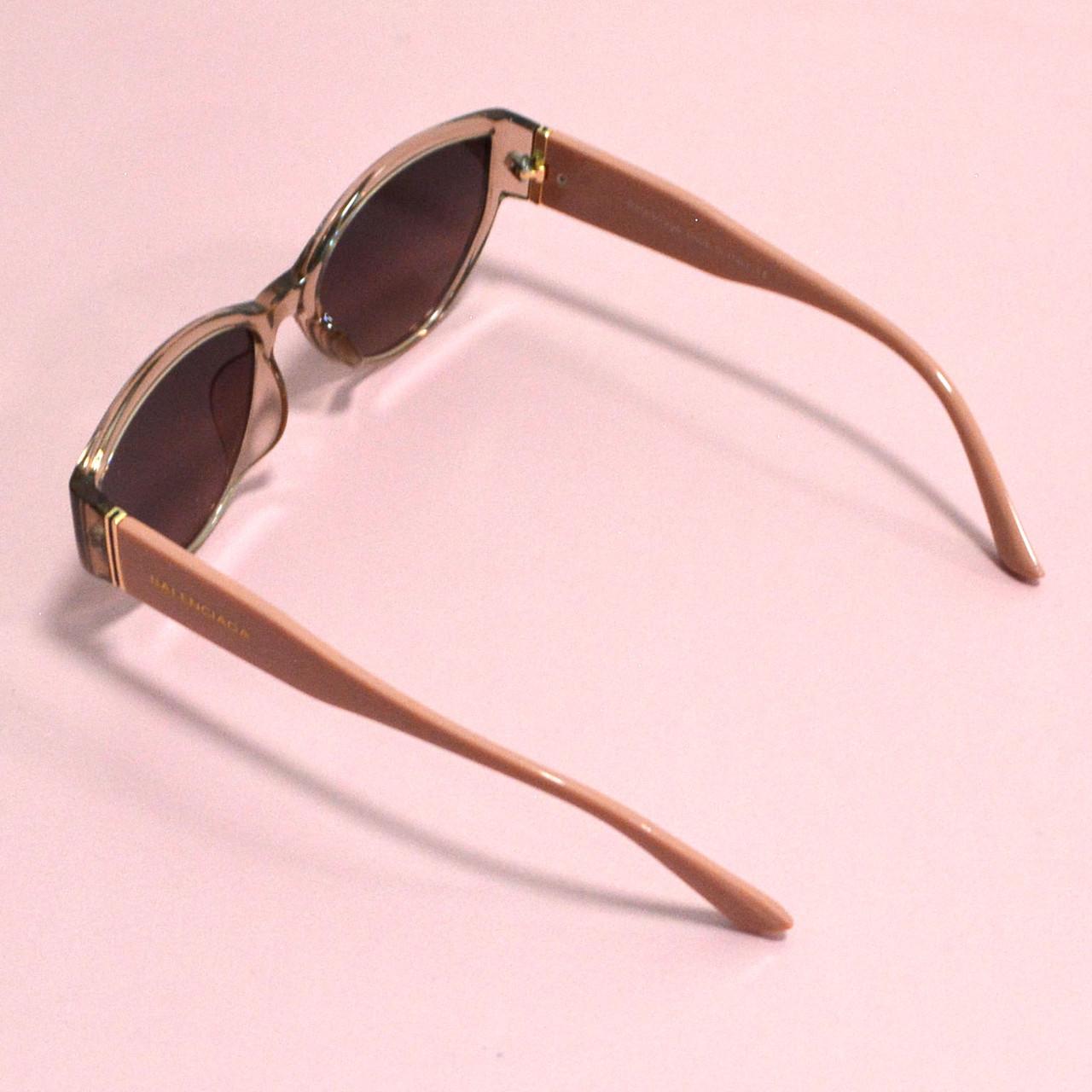 Солнцезащитные очки с коричневыми стеклами с широкой розовой дужкой Balenciaga 2125 - фото 8