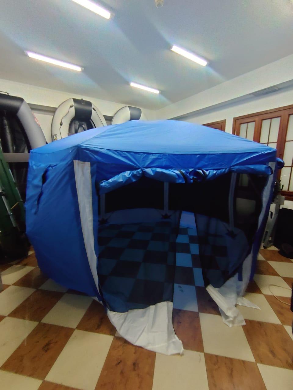 Шатер туристический Палатка БЕСЕДКА для охоты, рыбалки, тур похода Размеры 365*320*225 см - фото 5