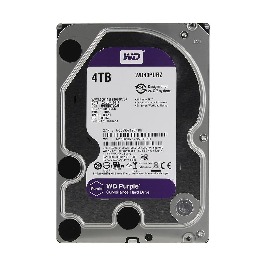 Жёсткий диск 4Tb Western Digital WD40PURZ