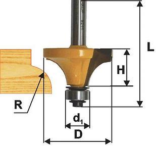 Фреза кром калевочная ф16х6мм R1,6мм хв 8мм
