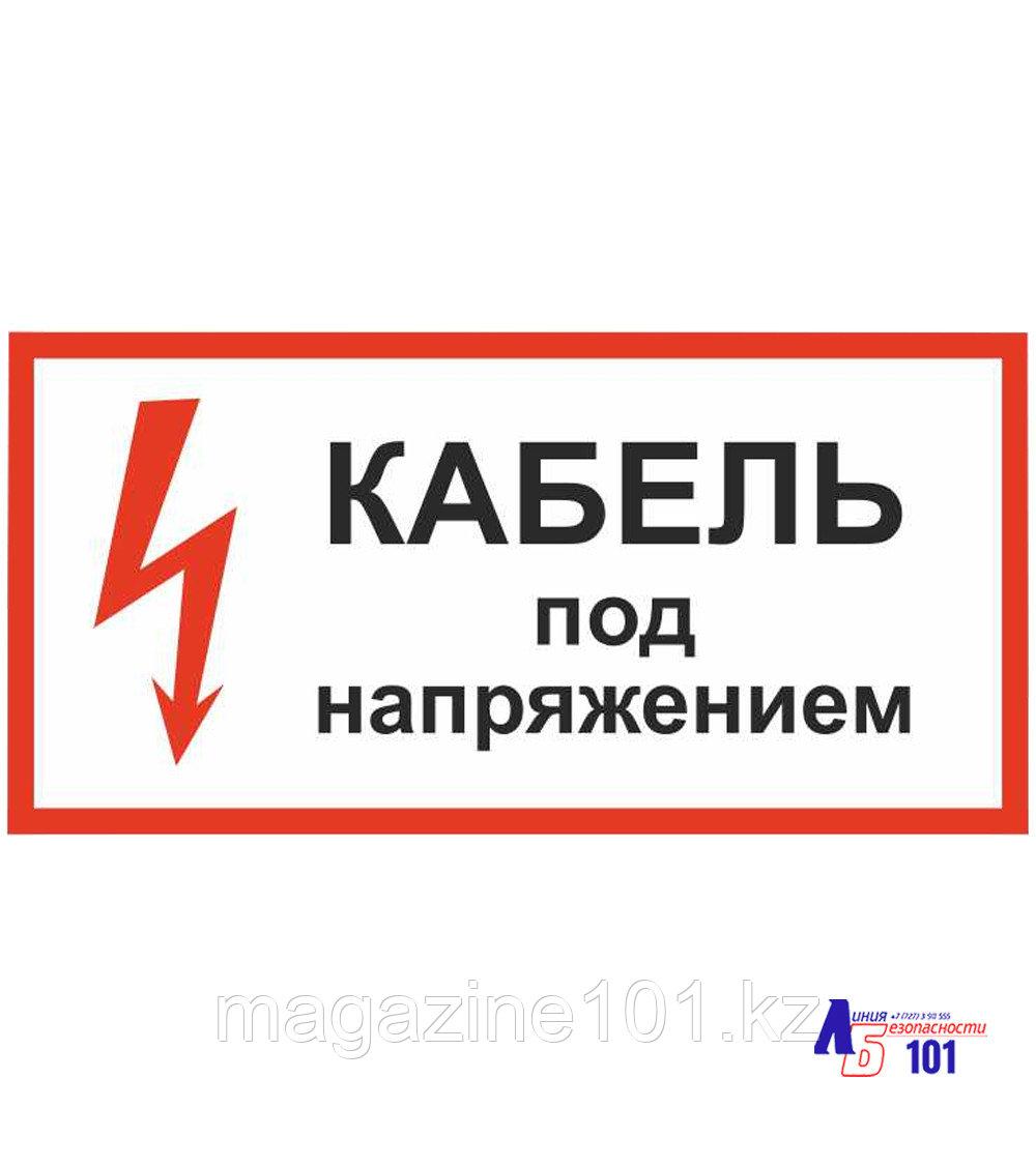 """Знак """"Кабель под напряжением  ЭЛ-11"""