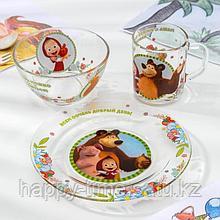 Набор посуды детский «Маша и Медведь. Добрый день»
