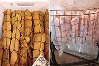 Примеры обвязки продукции для горячего копчения