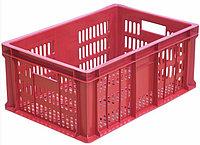 Ящик п/э колбасный 600*400*250 с перфорацией красный, вес 1,6кг