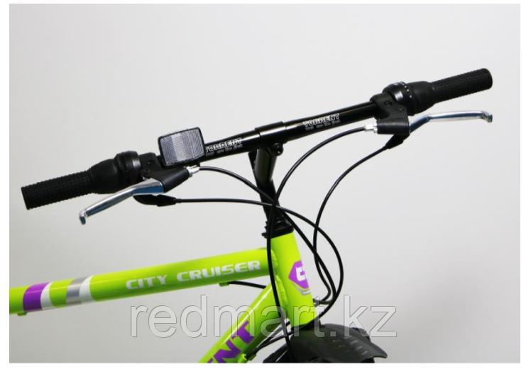 """Велосипед Torrent City Cruiser, внедорожный, 18 скоростей, колеса 26д, рама сталь 18"""",Зеленый/желтый - фото 2"""