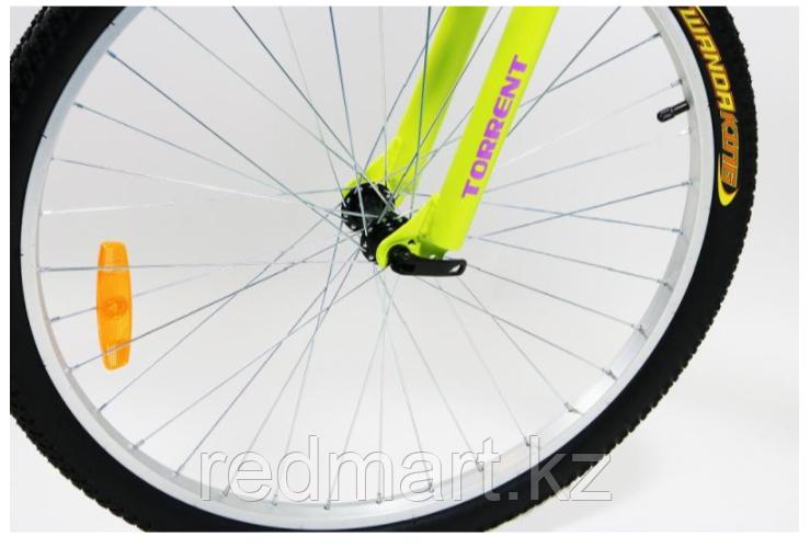 """Велосипед Torrent City Cruiser, внедорожный, 18 скоростей, колеса 26д, рама сталь 18"""",Зеленый/желтый - фото 3"""