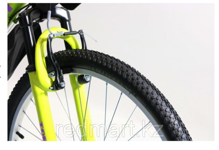 """Велосипед Torrent City Cruiser, внедорожный, 18 скоростей, колеса 26д, рама сталь 18"""",Зеленый/желтый - фото 4"""