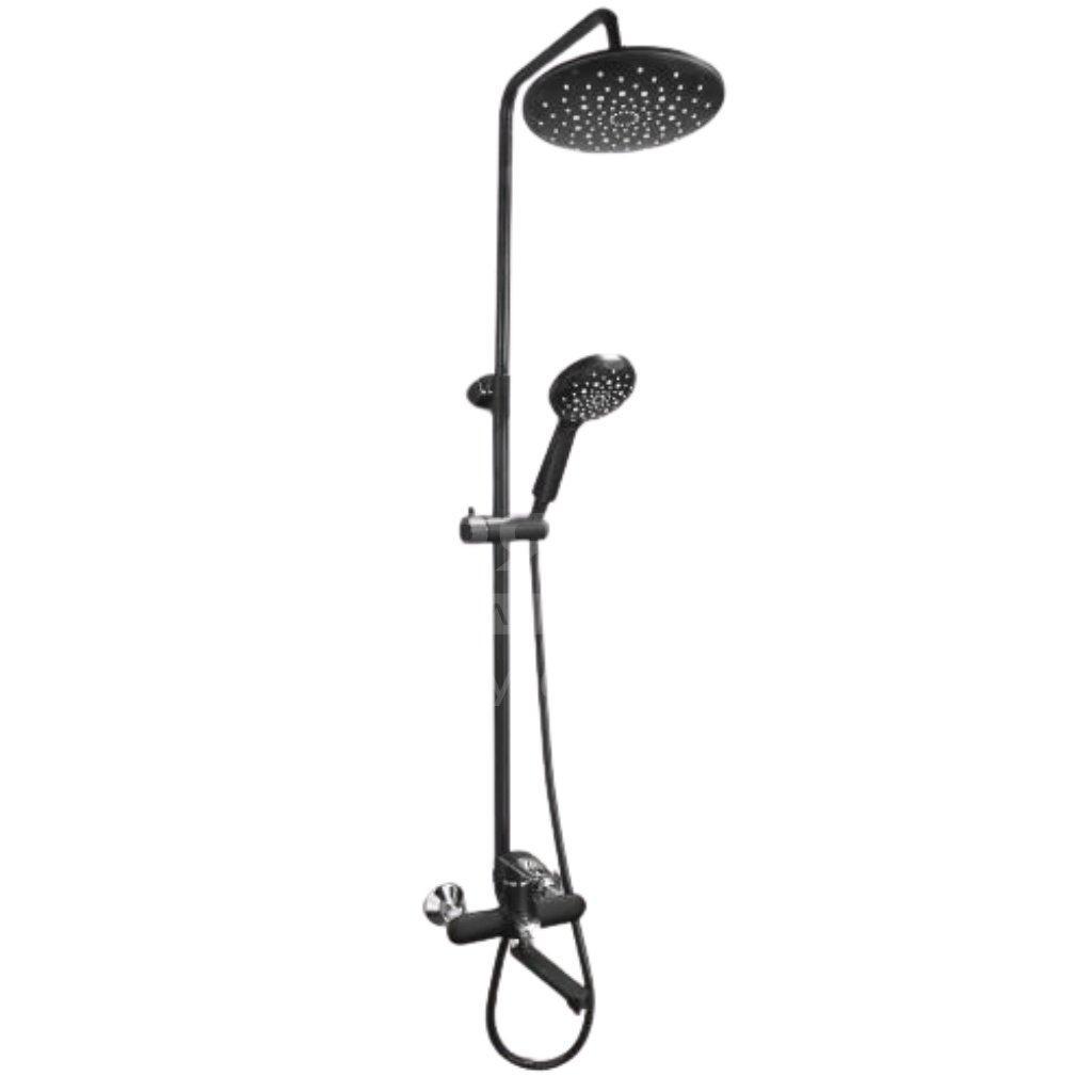 Душевая стойка с тропическим душем Frap 2449-6 черный