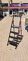 Стремянка Rodex, 3 ступени+1 площадка, с пластиковым покрытием и боксом для инструментов