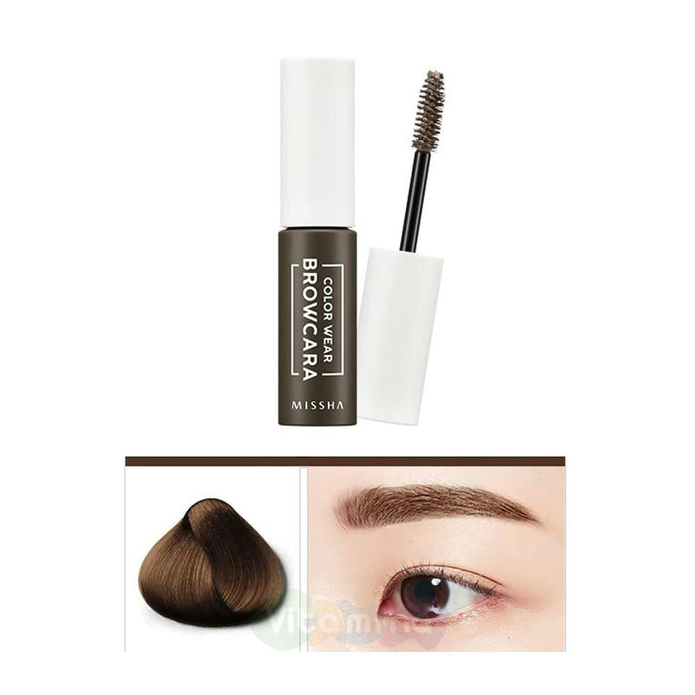 Тушь для бровей MISSHA Color Wear Browcara Dark Choco Brown