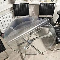 Мягкое стекло рифленое для стеклянных столов в кафе диаметром 120 см