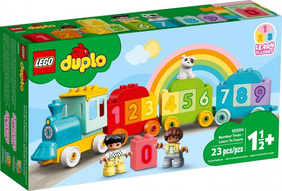 10954 Lego Duplo Поезд с цифрами — учимся считать, Лего Дупло