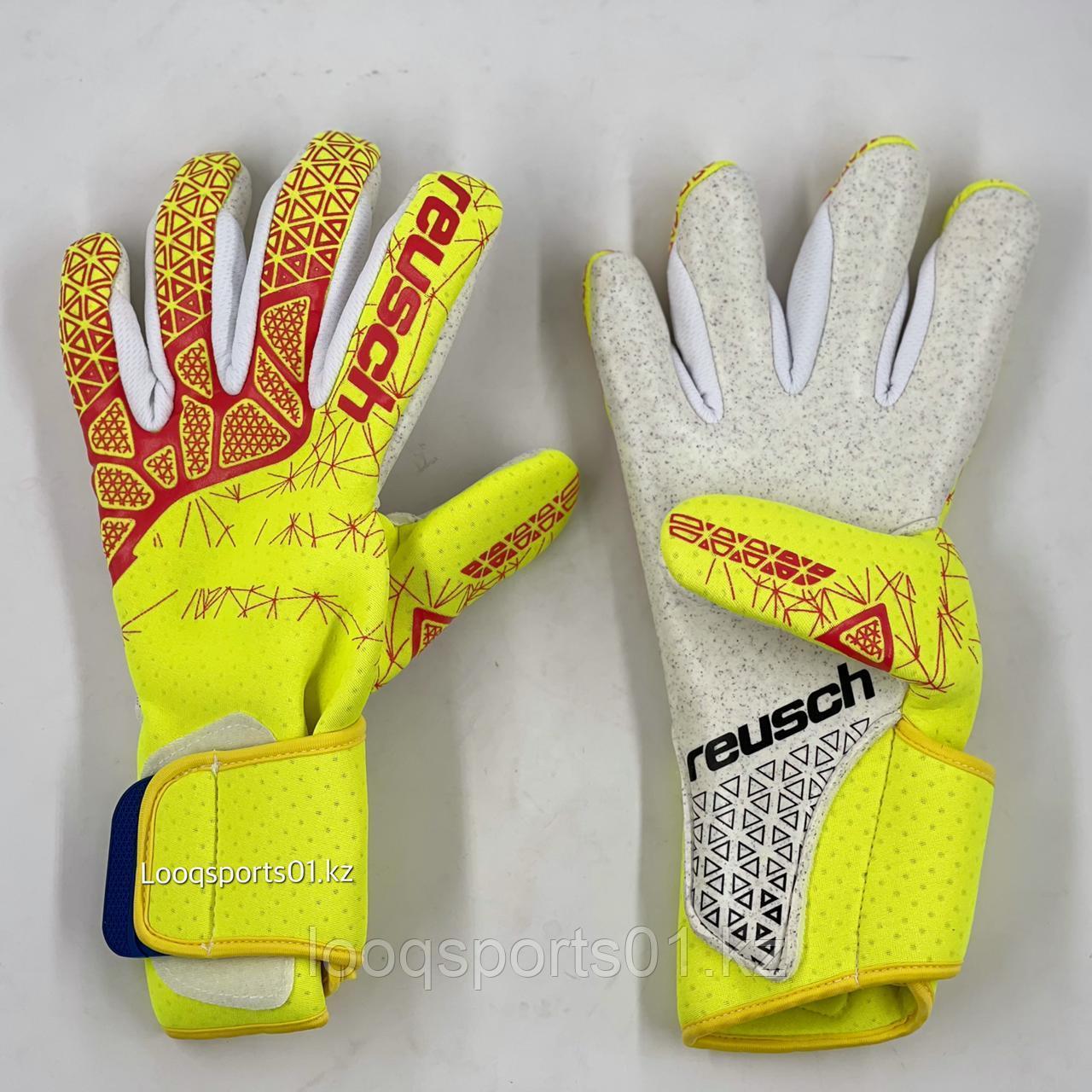 Футбольные перчатки вратарские вратаря Reusch (9)