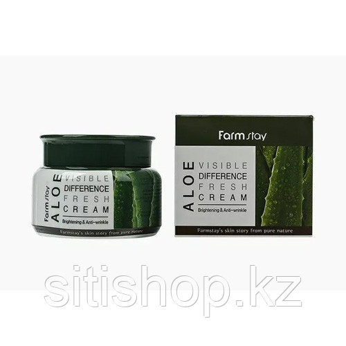 Farm Stay Visible Difference Fresh Cream Aloe - Освежающий Крем для лица с алоэ вера 100 гр
