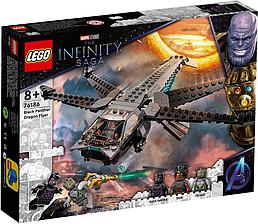 76186 Lego Marvel Флайер Стрекоза Чёрной Пантеры, Лего Супергерои Marvel