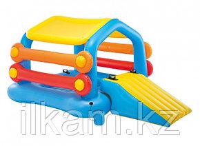 Детский надувной игровой центр-бассейн-плот с горкой и тентом Остров Intex 58294, фото 2