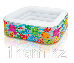 Детский надувной бассейн Intex 57471 Аквариум, размер 159х159х50 см, фото 2