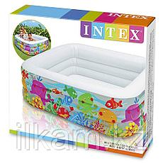 Детский надувной бассейн Intex 57471 Аквариум, размер 159х159х50 см, фото 3